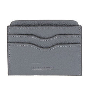 PUBLIC OPINION GROVE LEATHER CARD CASE IN GREY